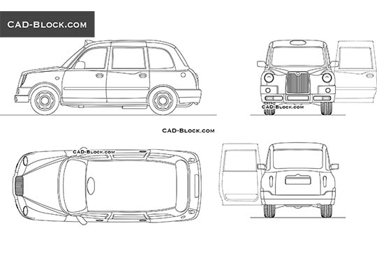 London Taxi TX4 buy AutoCAD Blocks