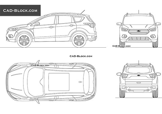 Ford Escape buy AutoCAD Blocks