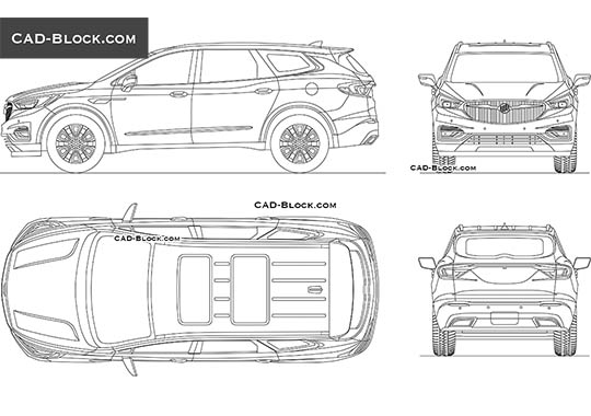 Buick Enclave buy AutoCAD Blocks