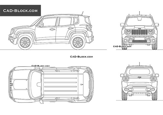 Jeep Renegade buy AutoCAD Blocks