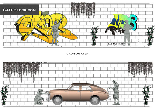 Street Art - download free CAD Block