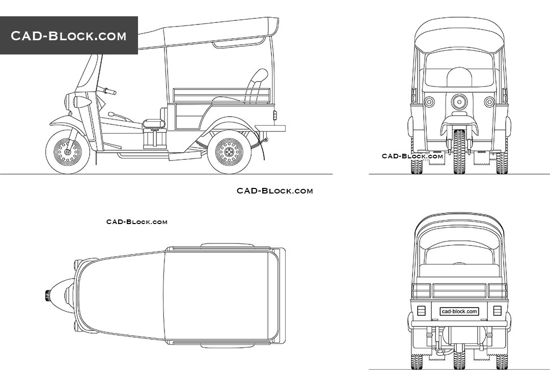 Tuk Tuk - CAD Blocks, AutoCAD file