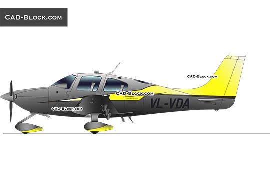 Cirrus Aircraft SR22 - download free CAD Block
