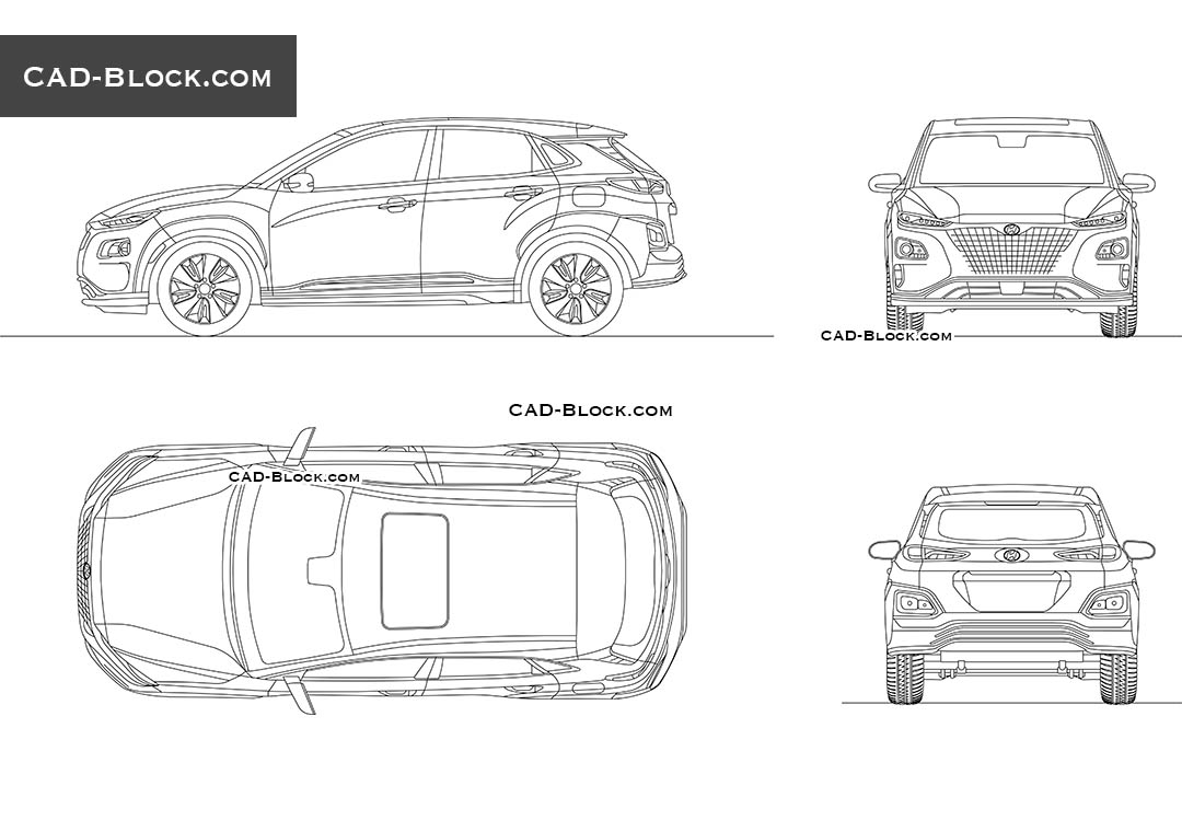 Hyundai Kona Electric - CAD Blocks, AutoCAD file
