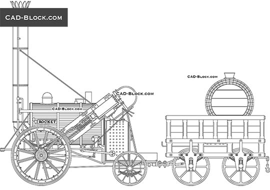 Stephenson's Rocket - free CAD file