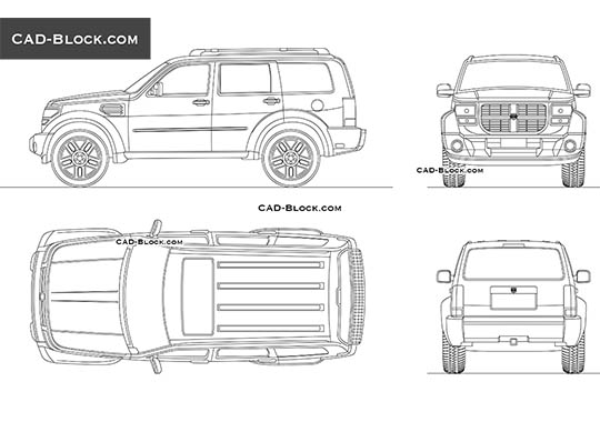 Dodge Nitro buy AutoCAD Blocks