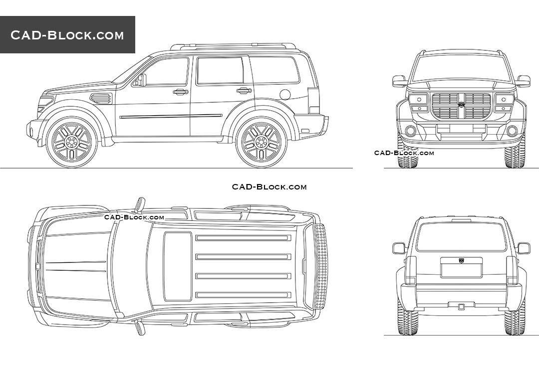 Dodge Nitro - CAD Blocks, AutoCAD file
