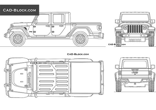 Jeep Gladiator buy AutoCAD Blocks