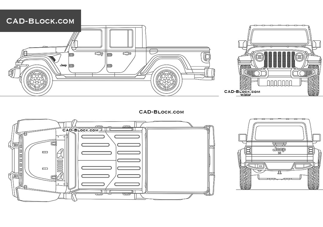 Jeep Gladiator - CAD Blocks, AutoCAD file