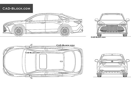 Toyota Avalon TRD buy AutoCAD Blocks