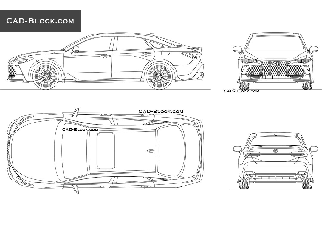 Toyota Avalon TRD - CAD Blocks, AutoCAD file
