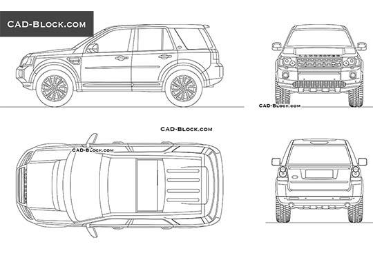 Land Rover Freelander buy AutoCAD Blocks