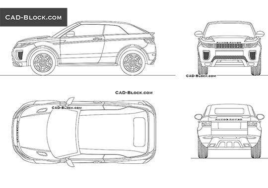 Range Rover Evoque Convertible buy AutoCAD Blocks