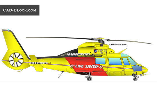 Eurocopter Dauphin AS365 N2 - download free CAD Block