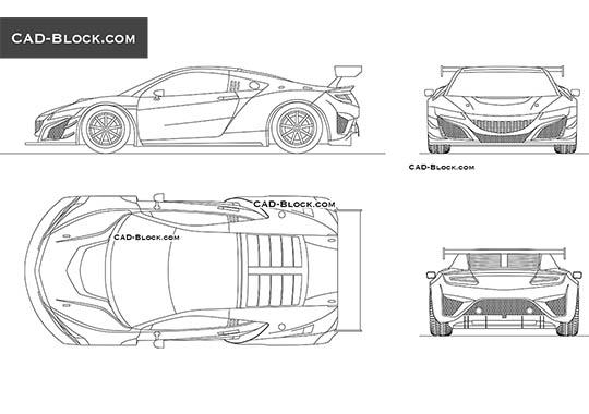 Honda NSX GT3 buy AutoCAD Blocks