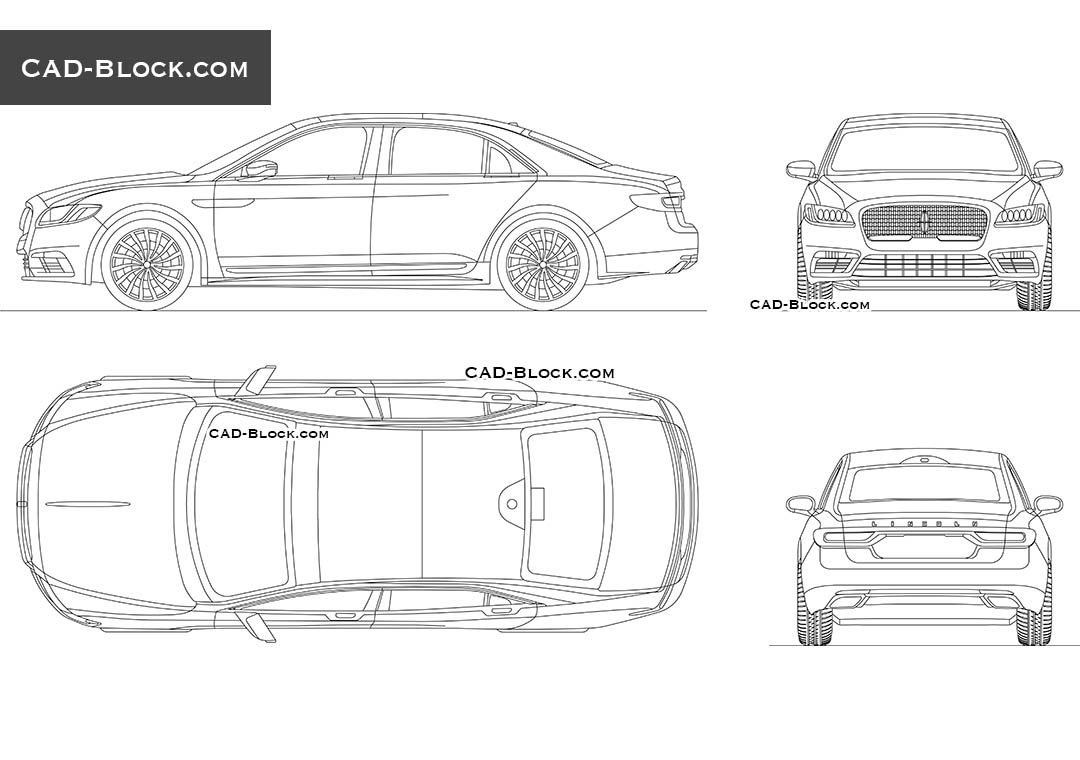 Lincoln Continental - CAD Blocks, AutoCAD file