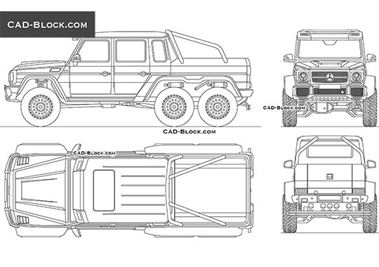Mercedes-Benz G 63 AMG 6x6 buy AutoCAD Blocks