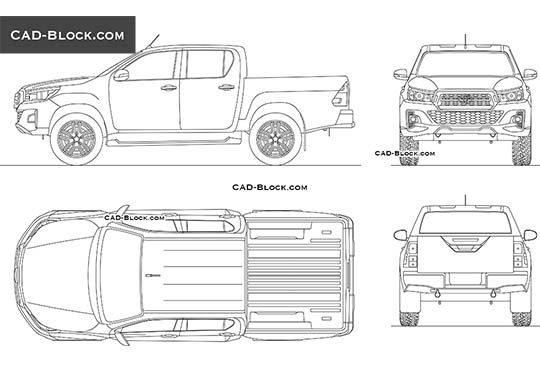 Toyota Hilux Revo buy AutoCAD Blocks
