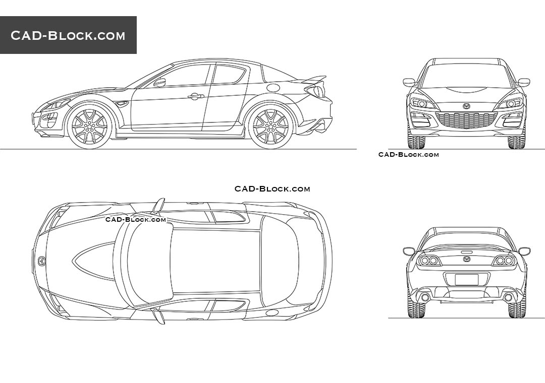 Mazda RX8 - CAD Blocks, AutoCAD file