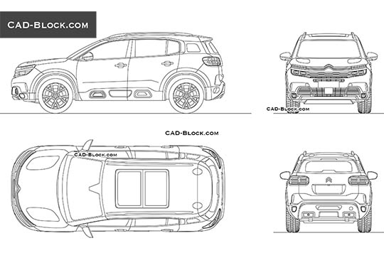 Citroen C5 Aircross buy AutoCAD Blocks