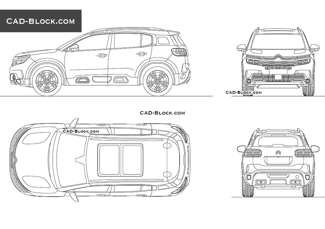 Citroen C5 Aircross - CAD Blocks, AutoCAD file
