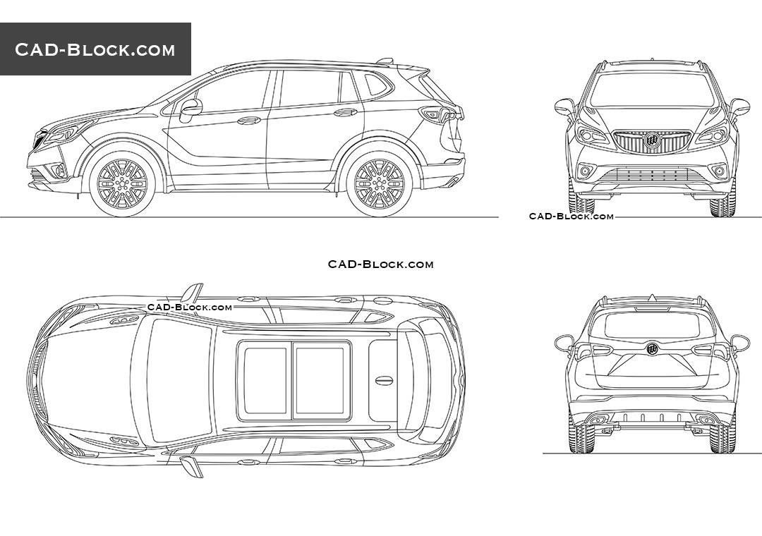 Buick Envision - CAD Blocks, AutoCAD file