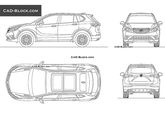Buick Envision buy AutoCAD Blocks