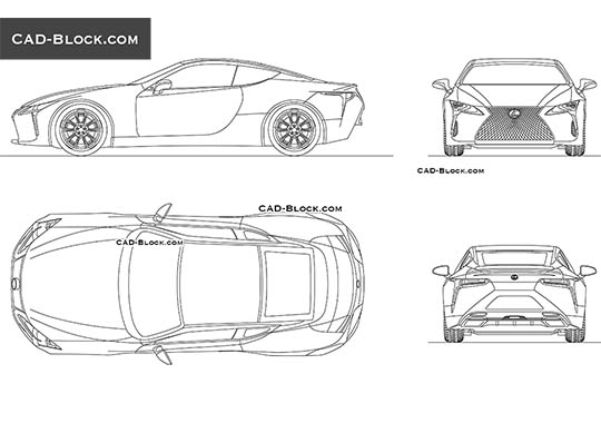 Lexus LC 500 buy AutoCAD Blocks