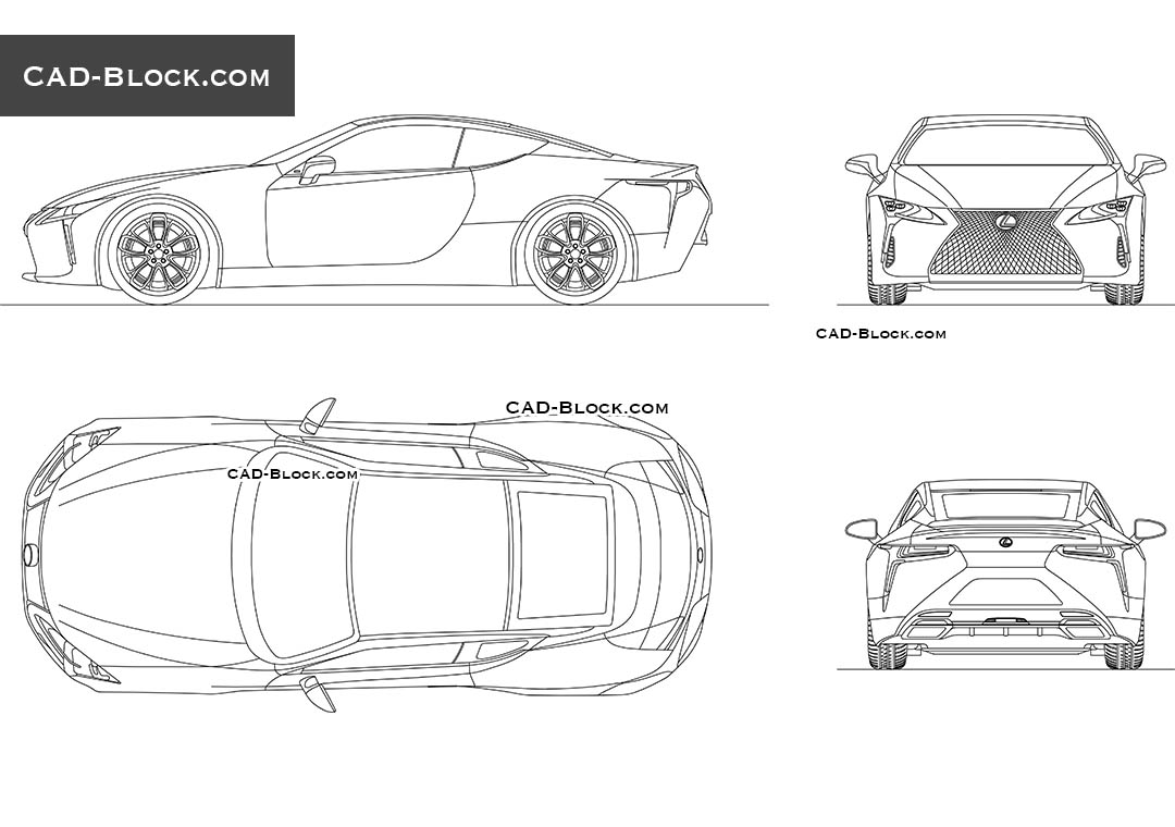 Lexus LC 500 - CAD Blocks, AutoCAD file