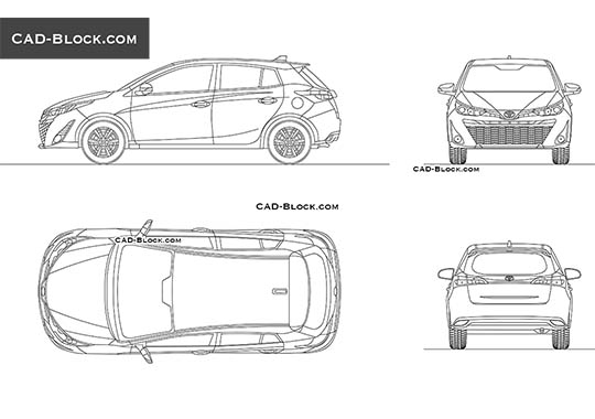 Toyota Yaris buy AutoCAD Blocks