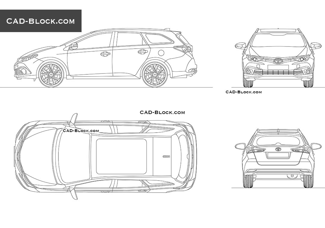 Toyota Auris - CAD Blocks, AutoCAD file