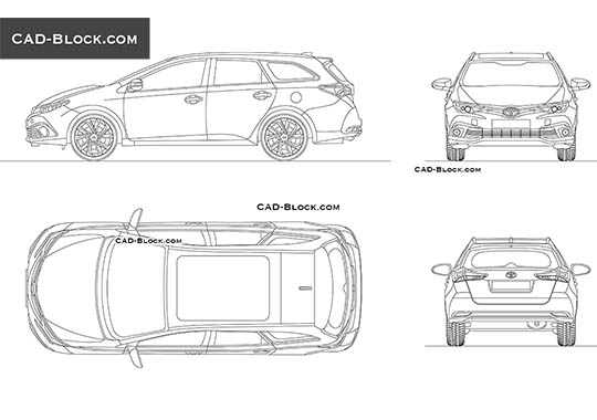 Toyota Auris buy AutoCAD Blocks