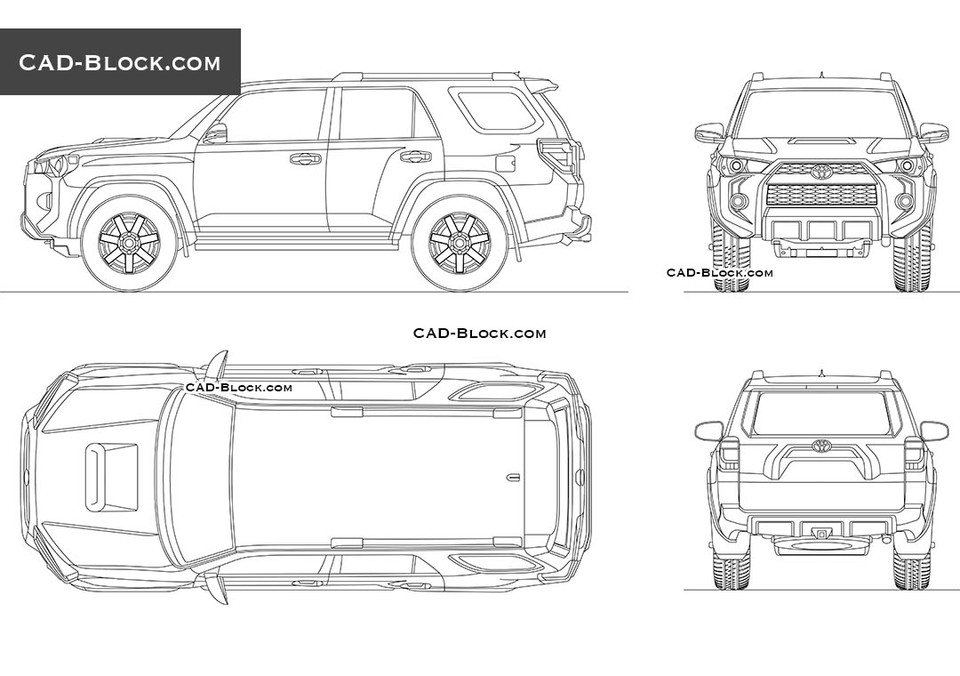 Toyota 4Runner - CAD Blocks, AutoCAD file