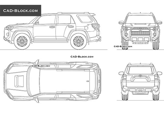 Toyota 4Runner buy AutoCAD Blocks