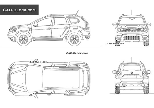 Dacia Duster buy AutoCAD Blocks