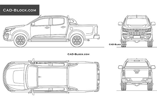 Chevrolet S-10 Double Cab - download free CAD Block
