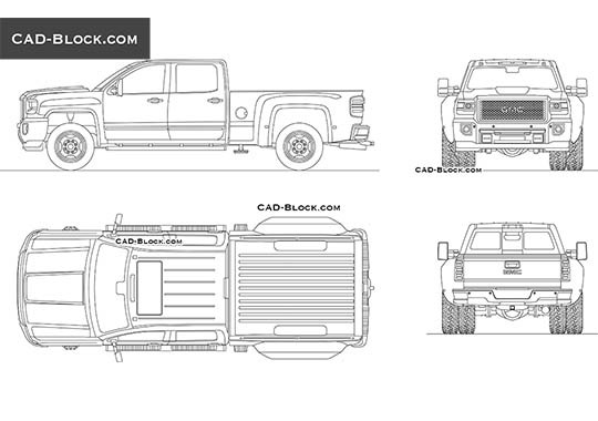 GMC Sierra HD buy AutoCAD Blocks