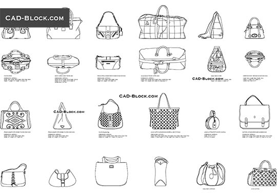 Luxury Bags - free CAD file