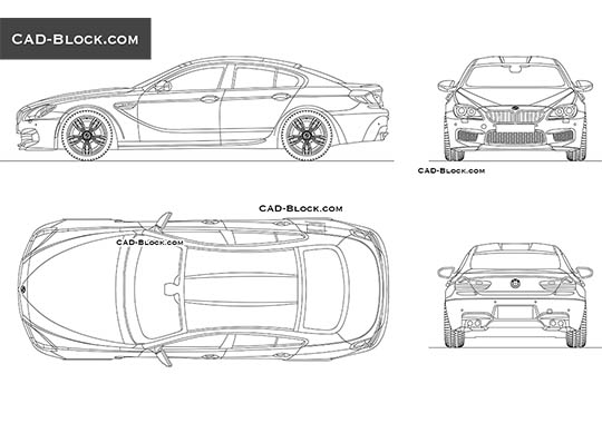BMW M6 Gran Coupe buy AutoCAD Blocks