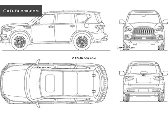 Infiniti QX80 buy AutoCAD Blocks