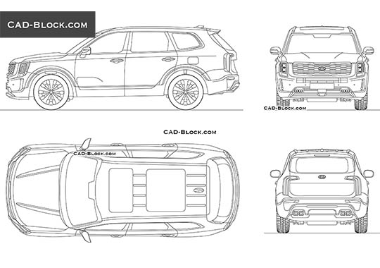 Kia Telluride buy AutoCAD Blocks