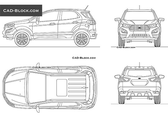 Ford EcoSport (2019) buy AutoCAD Blocks
