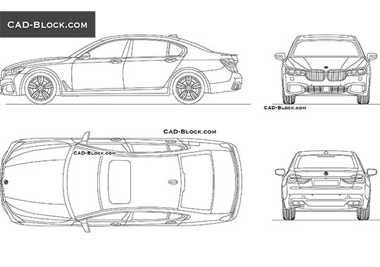 BMW 7 Series - free CAD file