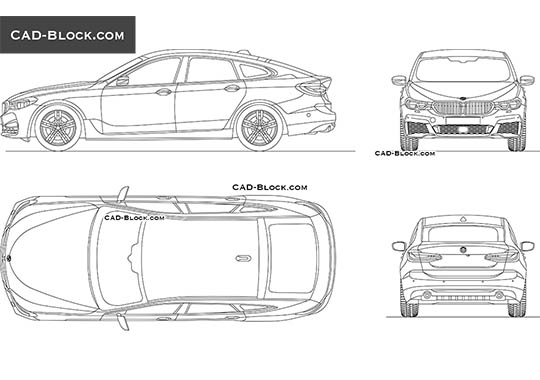 BMW 6 GT buy AutoCAD Blocks