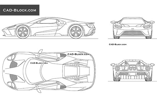 Ford GT (2019) buy AutoCAD Blocks