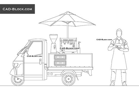 Mobile Barista buy AutoCAD Blocks