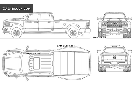 Dodge RAM 3500 buy AutoCAD Blocks