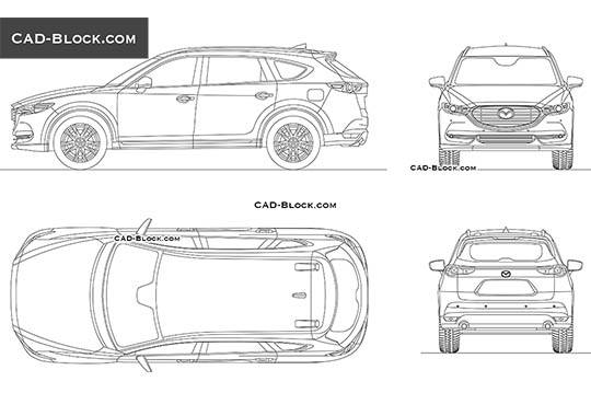 Mazda CX-8 buy AutoCAD Blocks