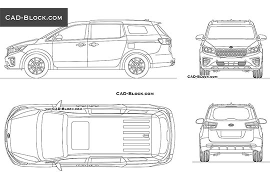 Kia Sedona buy AutoCAD Blocks