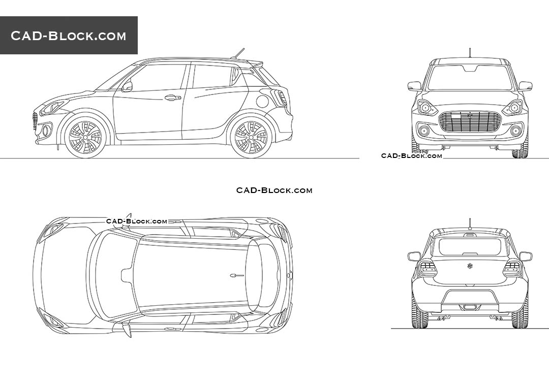 Suzuki Swift - CAD Blocks, AutoCAD file